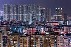 Hong Kong downtown at night Royalty Free Stock Images