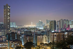 Hong Kong downtown at night Stock Photography