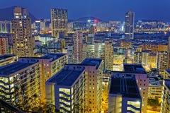 Hong kong downtown Stock Image