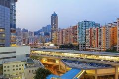 Hong Kong downtown at night Royalty Free Stock Photography