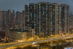 Hong Kong downtown royalty free stock photography