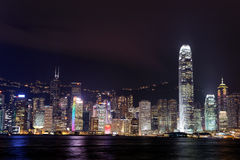 Hong Kong downtown skyscrapers Stock Photos