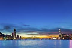 Hong Kong downtown at sunset Royalty Free Stock Photography
