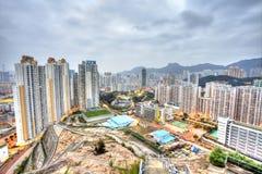 Hong Kong downtown at surreal tone Stock Photo