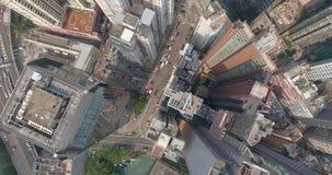 Hong Kong Downtown Top View arkivfilmer