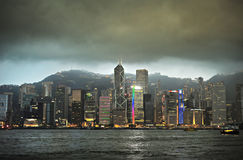 Hong Kong at dusk Royalty Free Stock Images