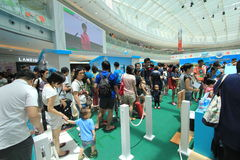 2015 Hong Kong Dutch Lady Pure Animal Husbandry Farm event. Dutch Lady Pure Animal Husbandry Farm event, located in Metro City Plaza, Hong Kong. The event aims Royalty Free Stock Photo