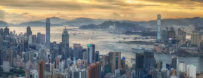 Hong Kong e Kowloon imagem de stock royalty free
