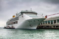Hong Kong, een lijnboot in haven Royalty-vrije Stock Foto's