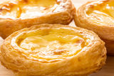 Hong Kong egg tart Stock Photos