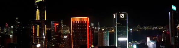 Hong Kong em a noite imagens de stock royalty free