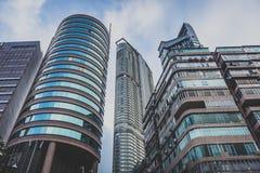 Hong Kong, em novembro de 2018 - cidade bonita imagens de stock royalty free
