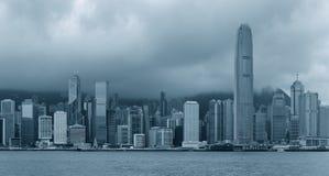 Hong Kong en blanco y negro Fotos de archivo libres de regalías