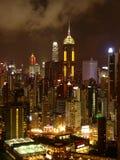 Hong-Kong en la noche Imagenes de archivo