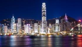 Hong-Kong en la noche Foto de archivo