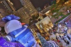 Hong Kong en la noche de la Navidad Imagen de archivo libre de regalías