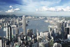 Hong-Kong en la saturación inferior foto de archivo