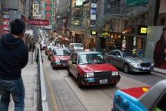 HONG-KONG, HONG-KONG - ENERO 21,2012: El turista fotografía a fotos de archivo libres de regalías