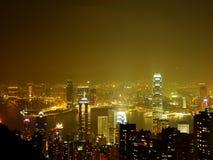 Hong Kong entro Night Immagini Stock Libere da Diritti