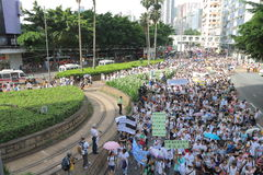 Hong Kong 1er juillet marche 2014 Photographie stock