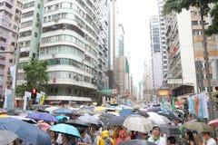 Hong Kong 1er juillet marche 2014 Photos libres de droits