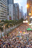 Hong Kong 1er juillet marche 2014 Photographie stock libre de droits