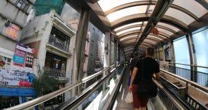 Hong Kong Escalator video estoque