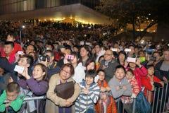 Hong Kong: Esposizione cinese 2015 dei fuochi d'artificio del nuovo anno Fotografie Stock Libere da Diritti