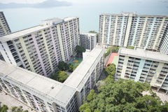 Hong Kong estate construction Royalty Free Stock Photos