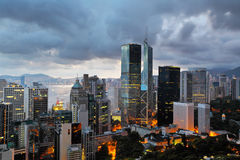Hong Kong evening Royalty Free Stock Photos