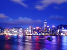 Hong Kong during evening Stock Images