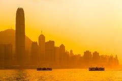 Hong Kong Evening Sky imágenes de archivo libres de regalías