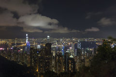 Hong Kong. An Evening at Victoria Peak stock photography