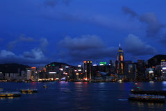 Hong Kong evening view. Hong Kong evening harbour view Royalty Free Stock Photography