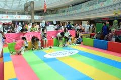 Hong Kong Event av älsklingen för familjen för världen för Disney ` s behandla som ett barn karneval Royaltyfri Fotografi