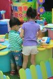 Hong Kong Event av älsklingen för familjen för världen för Disney ` s behandla som ett barn karneval Royaltyfri Foto