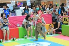 Hong Kong Event del carnaval del bebé del amor de la familia del mundo de Disney Foto de archivo libre de regalías