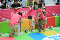 Hong Kong Event of Disney`s World Family Sweetheart Baby Carnival Stock Image