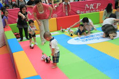Hong Kong Event of Disney`s World Family Sweetheart Baby Carnival. Disney`s World Family Sweetheart Baby Carnival, located in Metro City Plaza, Hong Kong, on stock photo