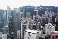 Hong Kong fågelsikt som är chian Royaltyfri Foto