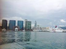Hong Kong för hamn för aberdeen porslinstad skrivande in skyttel för trans Arkivbilder