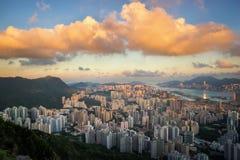 Hong Kong för hamn för aberdeen porslinstad skrivande in skyttel för trans Arkivfoto