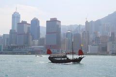 Hong Kong famous junk boat Royalty Free Stock Image
