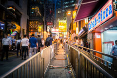 Hong Kong Famous Nightlife place - Lan Kwai Fong. 2016 Stock Photos