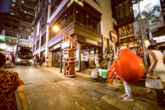 Hong Kong Famous Nightlife place - Lan Kwai Fong. 2016 Stock Image