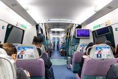 HONG KONG, February 9, 2019: The Airport Express links the principal urban areas with the Hong Kong International Airport and the. The Airport Express links the stock photos