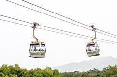 HONG KONG - 2015  February 7 : Cable cars of Ngong Ping on Lanta Stock Photo
