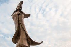 HONG KONG, Feburary 27 th 2016 -: Che Kung bóg statua przy Che Kuna zdjęcie royalty free