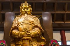 HONG KONG - Feburary zevenentwintigste 2016: Che Kung God-standbeeld in Che Kun Royalty-vrije Stock Foto's