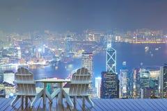 Hong Kong-Ferien, entspannend in Hong Kong lizenzfreies stockbild